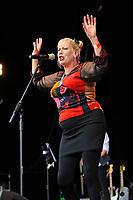 JUL 15 Hazel O'Connor performing at Let's Rock London Retro Festival