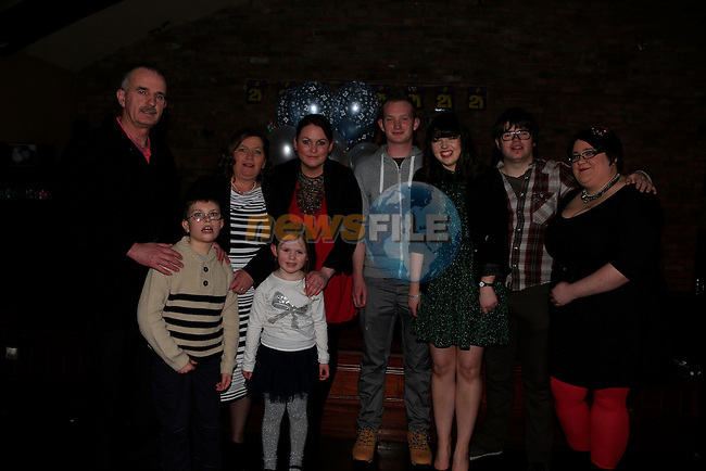 James Murray and his family at James 21th in McHughs<br />  Picture: Fran Caffrey www.newsfile.ie