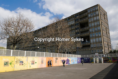 Robin Hood Gardens local authority council housing estate. East London E14. UK 2008