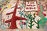 """The Holy Bible"" by Leonard Knight artist and creator of Salvation Mountain by the Slabs near Niland, Calif...Leonard Knight is a gentle and friendly man who is sharing his passion for God with all comers in the Imperial Valley."