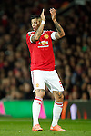 Marcos Rojo of Manchester United applauds during the UEFA Europa League match at Old Trafford. Photo credit should read: Philip Oldham/Sportimage