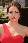 LOS ANGELES, CA - SEPTEMBER 15: Elizabeth Gillies arrives at the 2012 Primetime Creative Arts Emmy Awards at Nokia Theatre L.A. Live on September 15, 2012 in Los Angeles, California.