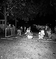 DŽmolition de CORRIDART, rue Sherbrooke. - 13-14 juillet 1976. / Louis-Philippe Meunier. Archives de la Ville de MontrŽal. VM94-EM0752-014