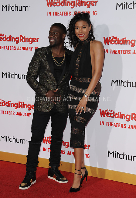 WWW.ACEPIXS.COM<br /> <br /> January 6 2015, LA<br /> <br /> Kevin Hart and Eniko Parrish arriving at 'The Wedding Ringer' World Premiere at the TCL Chinese Theatre on January 6, 2015 in Hollywood, California. <br /> <br /> <br /> By Line: Peter West/ACE Pictures<br /> <br /> <br /> ACE Pictures, Inc.<br /> tel: 646 769 0430<br /> Email: info@acepixs.com<br /> www.acepixs.com