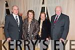 Dan Lynch (Kilgarvan), Mai Lynch (Kilgarvan), Sheila Mulvihill (Kenmare), Michael Mulvihill (Kenmare) at Kerry IFA 70th. Anniversary Dinner at Ballygarry House hotel on Friday