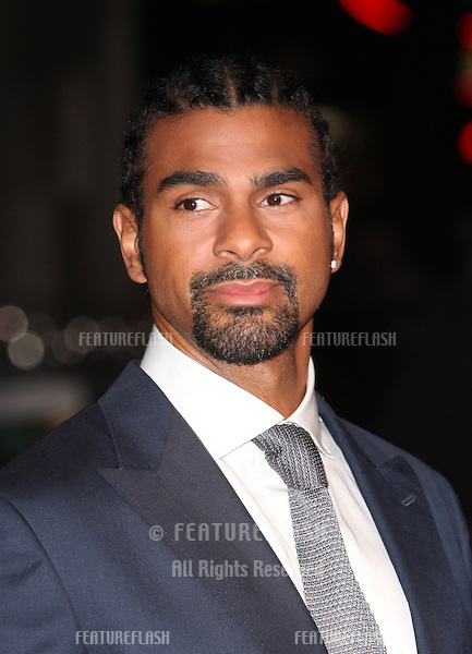 David Haye arriving at the World Premiere of Jack Reacher, at Odeon Leicester Square, London. 10/12/2012 Picture by: Alexandra Glen / Featureflash