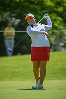 Inbee Park (KOR) watches her tee shot on 14 during round 2 of the 2018 KPMG Women's PGA Championship, Kemper Lakes Golf Club, at Kildeer, Illinois, USA. 6/29/2018.<br /> Picture: Golffile | Ken Murray<br /> <br /> All photo usage must carry mandatory copyright credit (© Golffile | Ken Murray)
