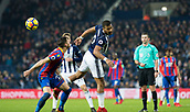 2nd December 2017, The Hawthorns, West Bromwich, England; EPL Premier League football, West Bromwich Albion versus Crystal Palace; Jose Salomon Rondon of West Bromwich Albion heads the ball on down the pitch