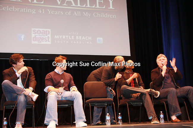 Walt Willey - Vincent Irizarry - Jacob Young - Darnell Williams - Michael E. Knight - A Tribute to Pine Valley - celebrating 41 years of All My Children on October 26, 2011 at the State Theatre, New Brunswick, New Jersey. (Photo by Sue Coflin/Max Photos)