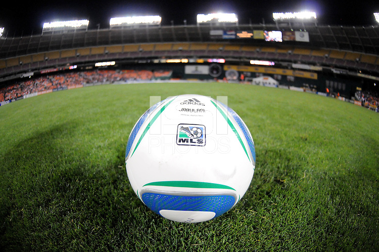 Major League Soccer Official Ball.    DC United tied The Colorado Rapids 1-1, at RFK Stadium, Saturday  May 14, 2011.