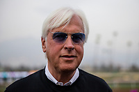 ARCADIA, CA - JANUARY 06: Bob Baffert after winning the Sham Stakes at Santa Anita Park on January 06, 2018 in Arcadia, California. (Photo by Alex Evers/Eclipse Sportswire/Getty Images)
