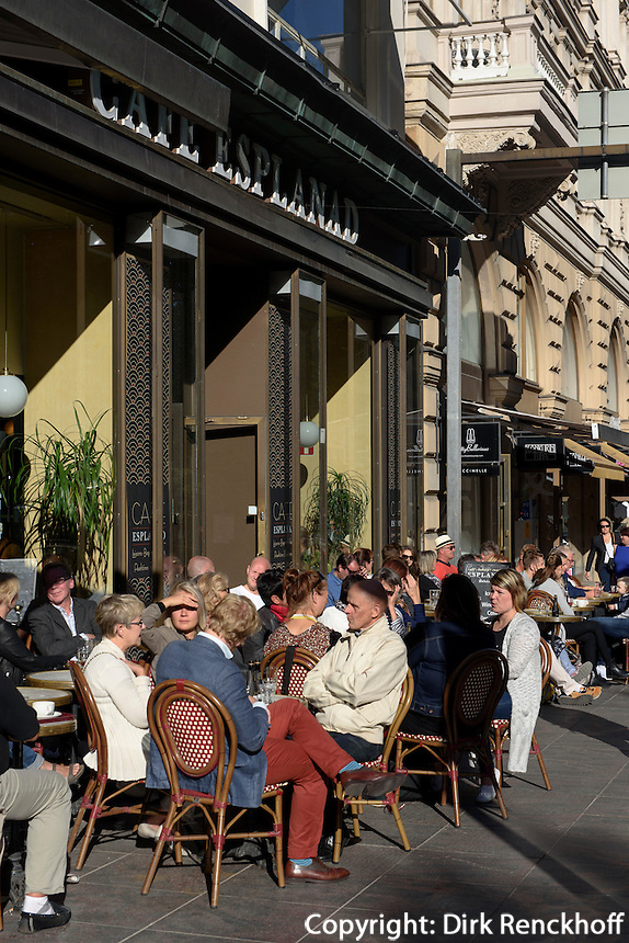 Café Esplanad auf der Pohjoisesplanadi, Helsinki, Finnland