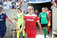 Cary, North Carolina  - Saturday August 19, 2017: Shelina Zadorsky prior to a regular season National Women's Soccer League (NWSL) match between the North Carolina Courage and the Washington Spirit at Sahlen's Stadium at WakeMed Soccer Park. North Carolina won the game 2-0.