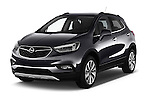 2017 Opel Mokka-X Innovation 5 Door SUV Angular Front stock photos of front three quarter view