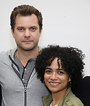 "Joshua Jackson and Lauren Ridloff attends the cast photo call for the Broadway Revival of  ""Children of a Lesser God"" on February 22, 2018 at the Roundabout Rehearsal Studios in New York City."