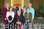 Pupils from Tralee Educated National School with their principal Mairead Fernane and teacher Catherine Berry after the bishop of Kerry Bill Murphy confirmed them in Our lady & St Brendan's Church, Tralee on Friday. The pupils were, Shane O'Donoghue, Cathal Foran, Fergus McCarthy, Ryan Moran and Rosemary Looney................................... ....