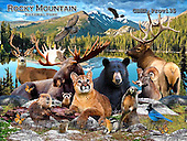 Howard, REALISTIC ANIMALS, REALISTISCHE TIERE, ANIMALES REALISTICOS, paintings+++++Rocky Mountain,GBHRPROV135,#A# ,puzzles