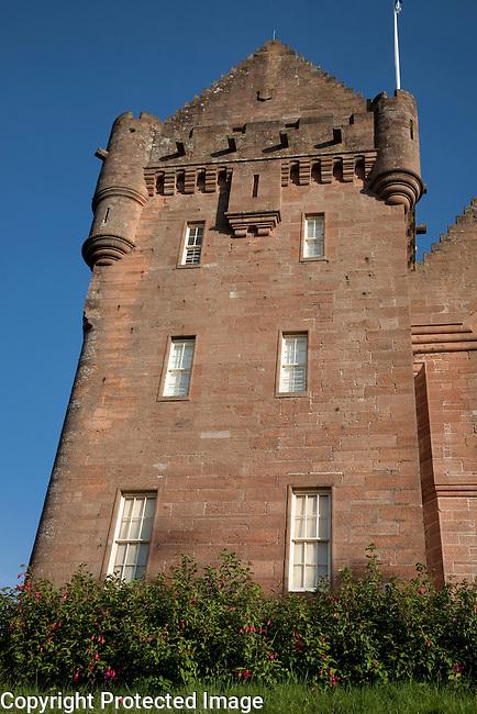 Broddick Castle on the Isle of Arran; Scotland