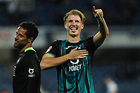 George Byers of Swansea City applauds the fans at the final whistle during the Sky Bet Championship match between Queens Park Rangers and Swansea City at The Kiyan Prince Foundation Stadium in London, England, UK. Wednesday 21, August 2019