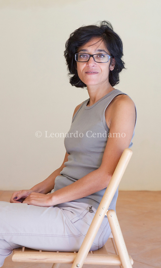 Michela Marzano, writer, filosofa, lives in Paris and Roma, Mantova 2010;  © Leonardo Cendamo