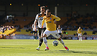 Bolton Wanderers' Adam Le Fondre and Port Vale's Ryan Taylor<br /> <br /> Photographer Stephen White/CameraSport<br /> <br /> The EFL Sky Bet League One - Port Vale v Bolton Wanderers  - Saturday 22nd April 2017 - Vale Park - Burslem<br /> <br /> World Copyright &copy; 2017 CameraSport. All rights reserved. 43 Linden Ave. Countesthorpe. Leicester. England. LE8 5PG - Tel: +44 (0) 116 277 4147 - admin@camerasport.com - www.camerasport.com