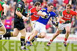 Declan O'Sullivan Kerry in action against JasonDoherty Conor Mortimor Mayo in the National Football League in Austin Stack Park on Sunday..