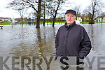Eddie Lacey at the flooding at Ballymullen, Tralee on Tuesday.
