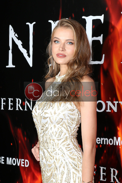 "Tanya Mityushina<br /> at the ""Inferno"" Los Angeles Premiere, DGA, Los Angeles, CA 10-25-16<br /> David Edwards/DailyCeleb.com 818-249-4998"