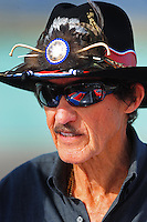Nov. 20, 2009; Homestead, FL, USA; NASCAR Sprint Cup Series team owner Richard Petty during qualifying for the Ford 400 at Homestead Miami Speedway. Mandatory Credit: Mark J. Rebilas-
