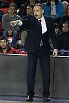 Montakit Fuenlabrada's coach Jota Cuspinera during Eurocup, Top 16, Round 2 match. January 10, 2017. (ALTERPHOTOS/Acero)