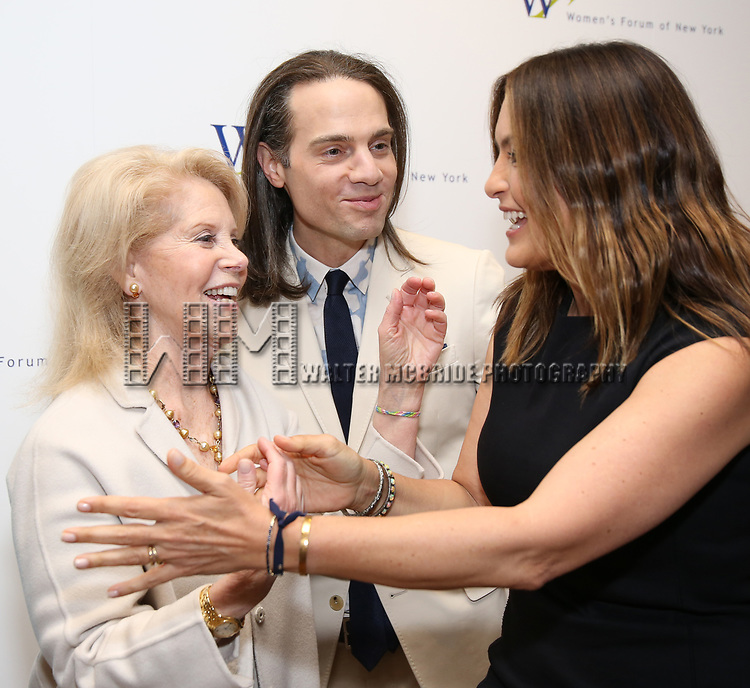 Daryl Roth, Jordan Roth and Mariska Hargitay attends The 7th Annual Elly Awards at The Plaza Hotel on June 19, 2017 in New York City.