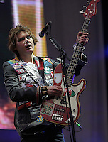 Pictured: Nicky Wire of the Manic Street Preachers Saturday May 2016<br /> Re: Manic Street Preachers at the Liberty Stadium, Swansea, Wales, UK