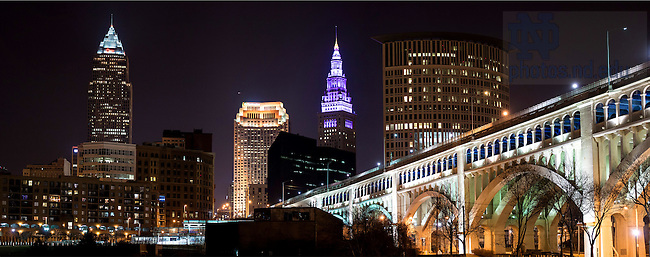 Mar. 25, 2015; Downtown Cleveland, OH, site of the 2015 NCAA Tournament Sweet 16 and Elite 8. (Photo by Matt Cashore/University of Notre Dame)