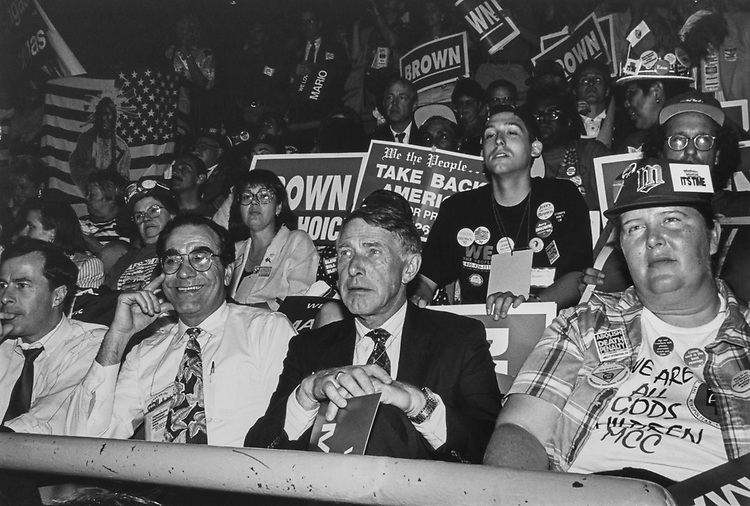 Rep. Martin Olav Sabo, D-Minn., at Democratic National Convention in 1992. (Photo by Laura Patterson/CQ Roll Call via Getty Images)
