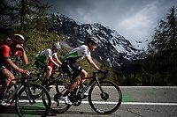 Enrico Gasparotto (ITA/Dimension Data) leading the grupetto up the Colle San Carlo (Cat1/1921m/10.1km/9.8%)<br /> <br /> Stage 14: Saint Vincent to Courmayeur/Skyway Monte Bianco (131km)<br /> 102nd Giro d'Italia 2019<br /> <br /> ©kramon