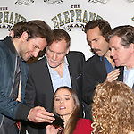 (LtoR) Bradley Cooper, Peter Bradbury, Emma Thorne,  Alessandro Nivola, Anthony Heald and Amanda Lea Mason  attends the 'The Elephant Man' Broadway Cast photo call at Sardi's on October 21, 2014 in New York City.