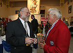 27 August 2006: Hall of Fame media director Jack Huckel (l) talks with Hall of Famer Harry Keough (r) during the reception. The President's Reception and Dinner were held at the National Soccer Hall of Fame in Oneonta, New York the evening before the 2006 Induction Ceremony.