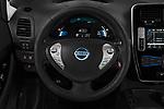 Car pictures of steering wheel view of a 2017 Nissan Leaf SL 5 Door Hatchback