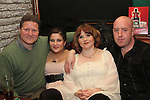 Eamonn, Ciara, Aoife and Barry celebrating New Years Eve in The Weavers...(Photo credit should read www.newsfile.ie)....This Picture has been sent you under the conditions enclosed by:.Newsfile Ltd..The Studio,.Millmount Abbey,.Drogheda,.Co Meath..Ireland..Tel: +353(0)41-9871240.Fax: +353(0)41-9871260.GSM: +353(0)86-2500958.email: pictures@newsfile.ie.www.newsfile.ie.