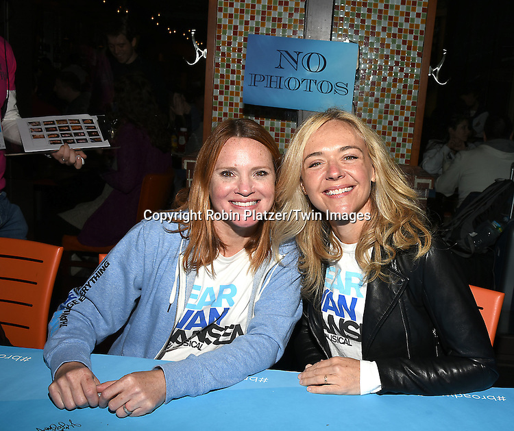 Rachel Bay Jones and Jennifer Laura Thompson attends the Broadway Cares/Equity Fights Aids Flea Market and Grand Auction on September 25, 2016 at the Music Box Theatre and in Shubert Ally in New York, New York, USA. <br /> <br /> photo by Robin Platzer/Twin Images<br />  <br /> phone number 212-935-0770