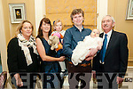 Baby Ben Pascal Stack with his parents Gerardine & Billy Stack and god parents Rosalie Stack & Ger Long who was christened in St. Mary's Churc, Listowel by Canon Declan O'Connor on Saturday 31st December and afterwards at the Listowel Arms Hotel.