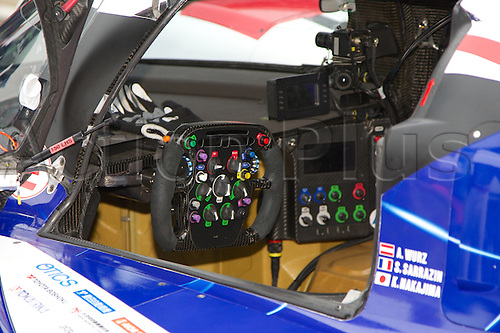 20.04.2014 Silverstone, England. The Toyota cockpit before round 1 of the World Endurance Championship from Silverstone.