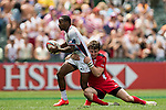 United States vs Wales during the HSBC Sevens Wold Series match as part of the Cathay Pacific / HSBC Hong Kong Sevens at the Hong Kong Stadium on 28 March 2015 in Hong Kong, China. Photo by Xaume Olleros / Power Sport Images
