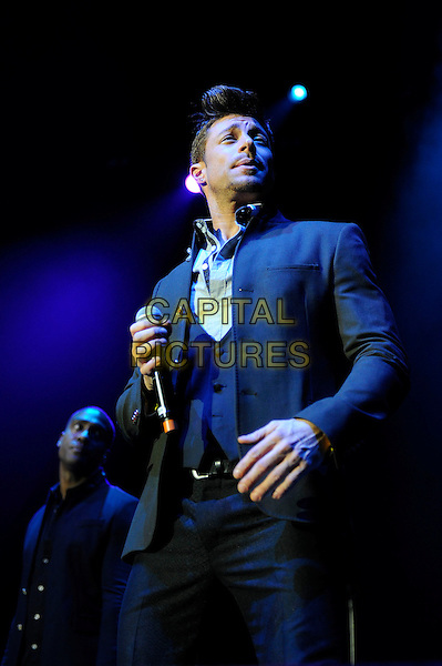 LONDON, ENGLAND - December 11: Duncan James of Blue performs in concert at the o2 Arena on December 11, 2013 in London, England<br /> CAP/MAR<br /> &copy; Martin Harris/Capital Pictures