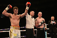 Danny Dignum (white shorts) defeats Daryl Sharpe during a Boxing Show at The O2 on 3rd February 2018