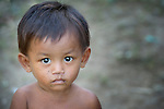 A child in the village of Phar Thruey in northern Cambodia.