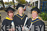 Pictured at the Institute of Technology, Tralee Autumn Conferring of Awards Ceremony on Friday, in the Brandon hotel were Katrina Lenihan, Mallow, Breda O'Donoghue, Killarney and Nina Tangney, Iistowel who received an Honours Degree in Nursing.