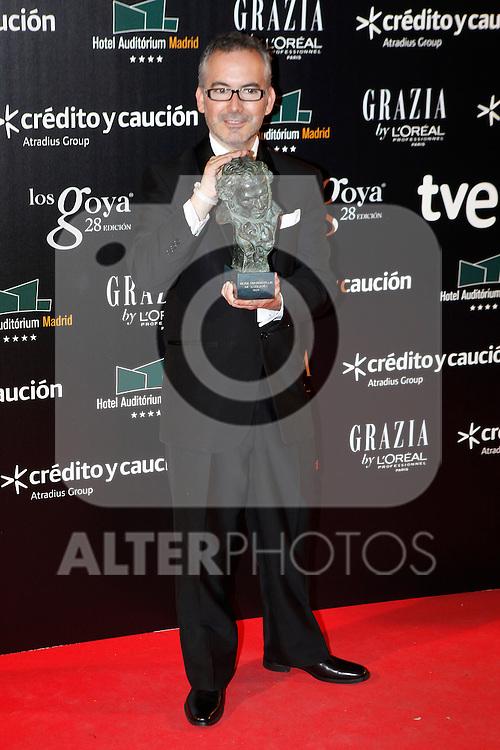 Director Pedro Solis attends Goya Cinema Awards 2014 red carpet at Centro de Congresos Principe Felipe on February 9, 2014 in Madrid, Spain. (ALTERPHOTOS/Victor Blanco)