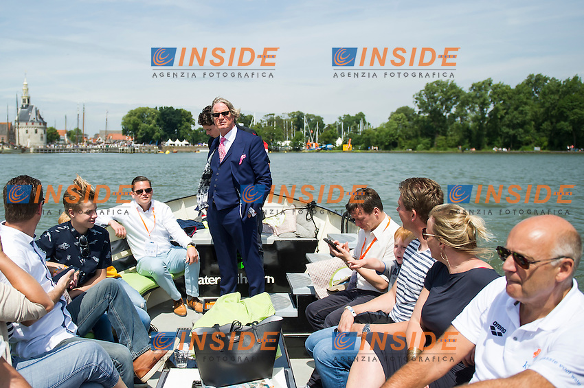 VIP boat<br /> Hoorn, Netherlands <br /> LEN 2016 European Open Water Swimming Championships <br /> Open Water Swimming<br /> Men's 10km<br /> Day 01 10-07-2016<br /> Photo Giorgio Perottino/Deepbluemedia/Insidefoto