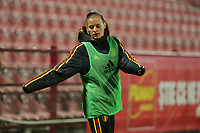 20191008 CLUJ NAPOCA: Belgium's Shari van Belle is  pictured warming up during the match between Belgium Women's National Team and Romania Women's National Team as part of EURO 2021 Qualifiers on 8th of October 2019 at CFR Stadium, Cluj Napoca, Romania. PHOTO SPORTPIX | SEVIL OKTEM